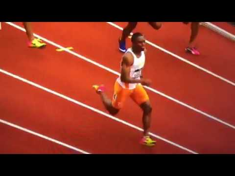 Christian Coleman With An NCAA 100 Meter record at 9.82 in a semifinal