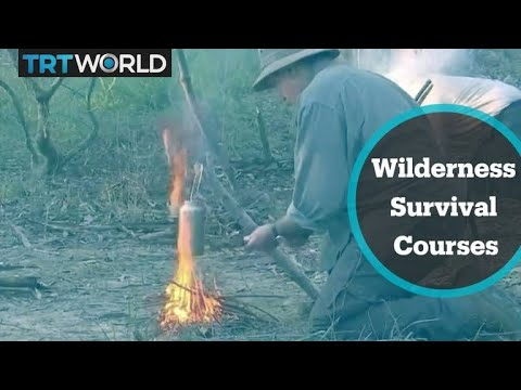 Wilderness survival courses booming in Australia - YouTube