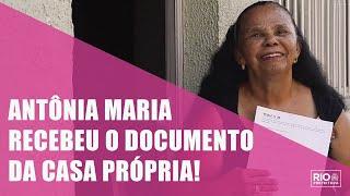 Boas histórias: dona Antônia recebe o RGI e realiza o sonho da casa própria