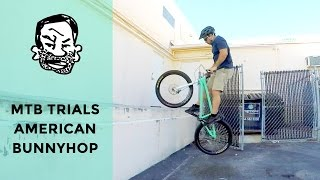 How to American bunnyhop a trials bike - MTB Trials for beginners