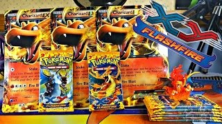 OPENING 8 FLASHFIRE POKEMON TCG BOOSTER PACKS - CHARIZARD EX HUNTING!