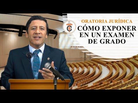 CÓMO EXPONER EN UN EXAMEN DE GRADO - Tribuna Constitucional 110 - Guido Aguila Grados