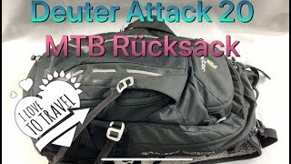 Deuter Attack 20 MTB  backpack/Rücksack - Vorstellung/Review (German)