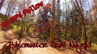 Downhill MTB verfolgt von FPV Racing Drone | Bikemaster Trail Nagold | MTB Stuttgart Trail