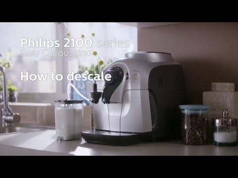 How to Descale Philips 2100 Series Easy Cappuccino - Great Cappuccino, small machine