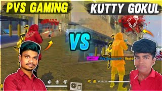 Kutty Gokul Vs PVS ||1 Vs 1| The Beginning PVS GAMING Best One Shot Gameplay Ever - Garena Free Fire