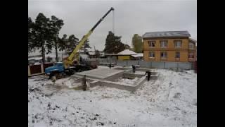 Монтаж плит перекрытия от компании Новый Дом