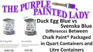 Chalk Paint® By Annie Sloan Global Alignment - Duck Egg Blue And Svenska Blue