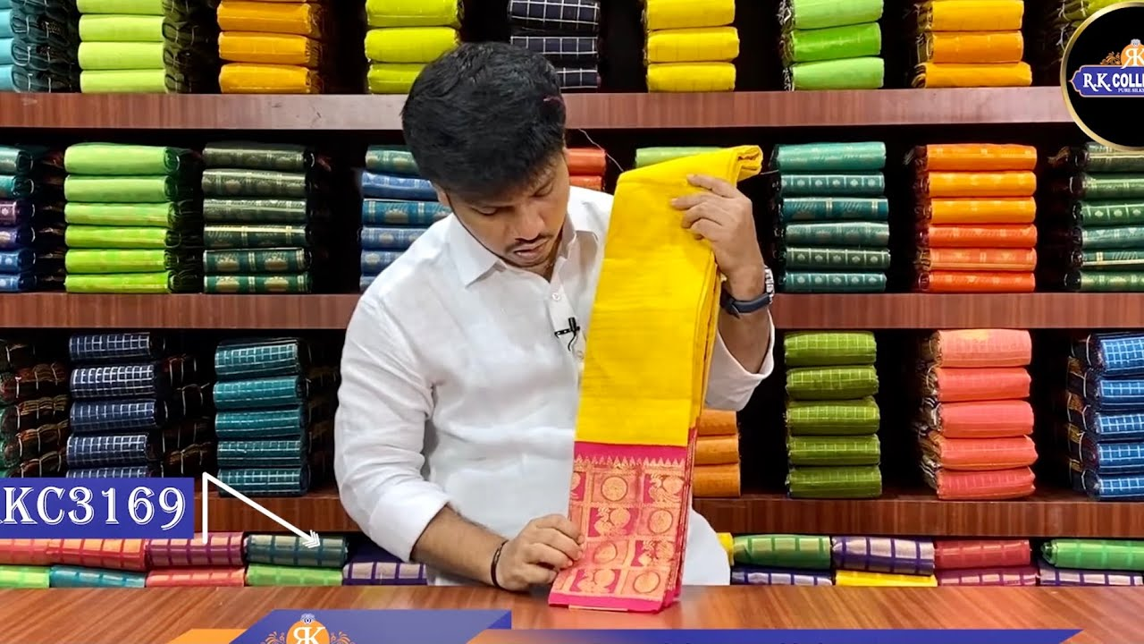 """<p style=""""color: red"""">Video : </p>Pongal Latest Saree Collection I Banaras I RKCollections I 2021-01-10"""