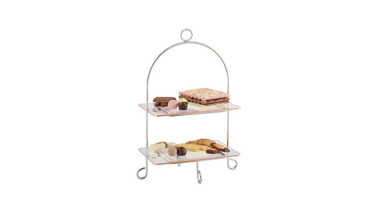 etagere eckig dessertteller 2 st ckig kaufen. Black Bedroom Furniture Sets. Home Design Ideas