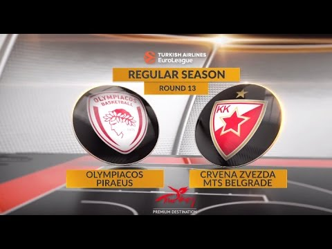 EuroLeague Highlights RS Round 13: Olympiacos Piraeus 73-65 Crvena Zvezda mts Belgrade