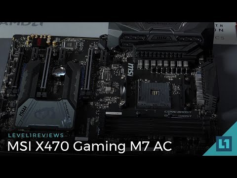 MSI X470 Gaming M7 AC Motherboard Review + Linux Test