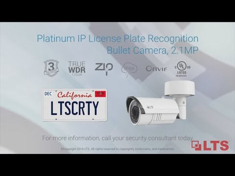 Platinum Network IP License Plate Recognition Camera, 2.1MP