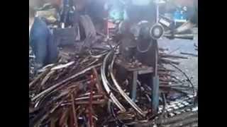 Работа кабелеразделочного станка КРС-2500