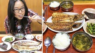 Grilled Fish Street in Dongdaemun