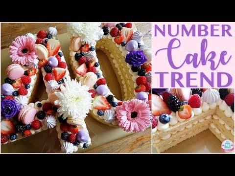 CAKE TREND 2018 | NUMBER CAKE | RECIPE & HOW TO | Abbyliciousz The Cake Boutique