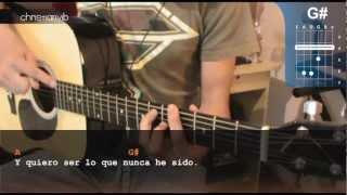 """Cómo tocar """"Contigo"""" de El Canto del Loco en Guitarra Acústica (HD) Tutorial - Christianvib"""