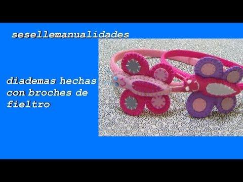 DIY:  broches de fieltro montado en diademas