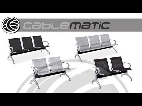 Bancada para sala de espera con sillas ergonómicas distribuido por CABLEMATIC ®