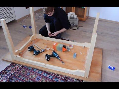 Massivholz- Tisch bauen | Schlitz- und Zapfen | Tisch selber bauen