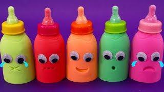 奶瓶都被妙妙壓倒了| 寶寶玩具 | 兒童玩具 | 玩具巴士|太空沙|學顏色
