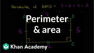 Perimeter and area: the basics | Perimeter, area, and volume | Geometry | Khan Academy