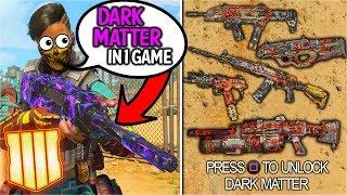 BLACK OPS 4: UNLOCKING DARK MATTER in 1 GAME! 27 DIAMOND GUNS IN 1 MATCH! (BO4 Worlds First)