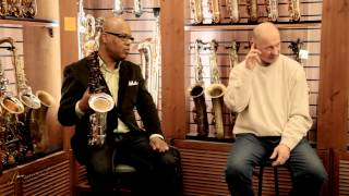 """Greg Osby clinic in Moscow, Russia, sax boutique """"Bird"""""""
