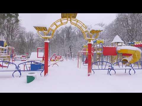 Яготин. один из районов города этой зимой, 2021 г