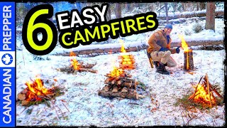 6 Easy Campfires Everyone Should Know For Survival And Recreation