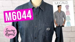 Sewing My 1st Mens Collared Shirt ✂️ McCalls Pattern M6044 | SEWING REPORT