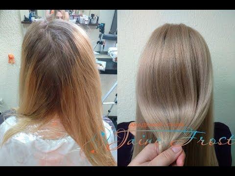 Декапирование и тонирование по горячему блонду в натуральный бежевый цвет волос Формула тонирования