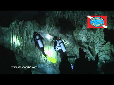 Cenote Chac Mool and Kukulkan Cavern diving in the Yucatan with Playa Scuba Dive Center