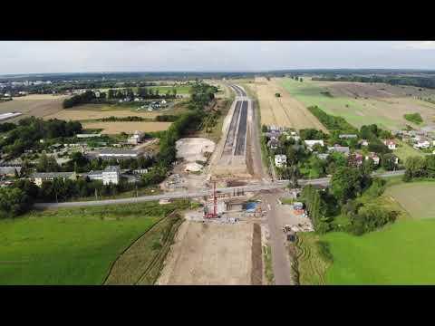 Planowana droga S19 odc. 3 obwodnica m. Kraśnik - widok lotniczy - sierpień 2020 r.