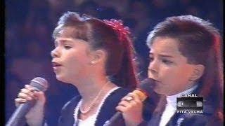 Sandy & Júnior Cantando Criança Esperança No Criança Esperança 1994
