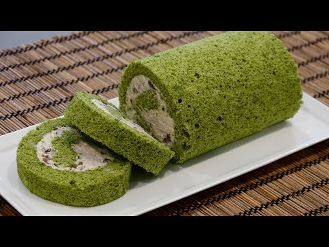 Matcha Roll Cake Recipe – Japanese Cooking 101