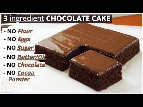 3 ingredient CHOCOLATE CAKE ! Lock Down Cake Recipe!