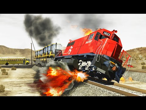Beamng.drive - Train Accidents #29