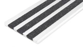 Aluminum-Carborundum Stair Nosing - 53mm Wide - No Skirt