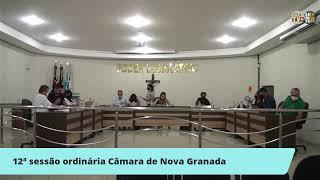 12ª SESSÃO ORDINÁRIA CÂMARA DE NOVA GRANADA/SP