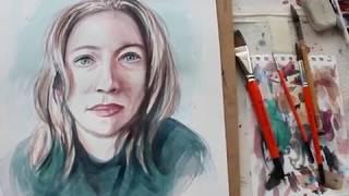 Vídeo master class Retrato Acuarela
