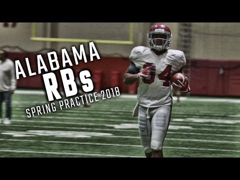 Watch Damien Harris and running backs during Alabama's spring practice