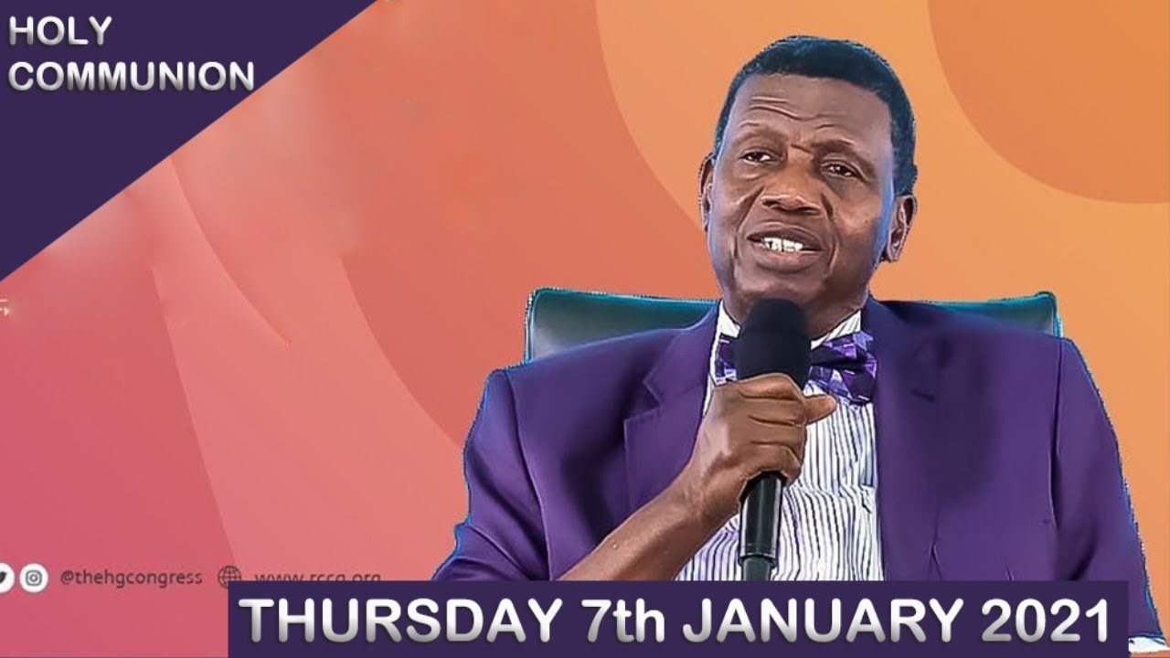 RCCG 7th January 2021 Holy Communion Service Livestream