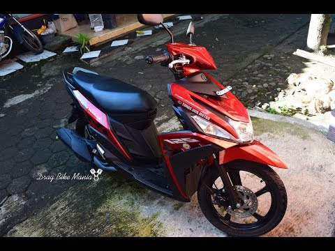 Review Yamaha Mio M3 125 Blue Core Selfie Red