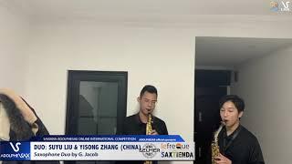 DUO Suyu LIU & Yisong ZHANG play Saxophone duo by G. Jacob