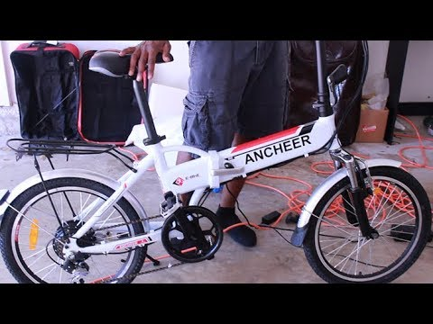 Electric Bike E-Bike FOR $500 – ANCHEER 20″ Folding Bike – Unboxing Assembly and Test Ride – Ebay