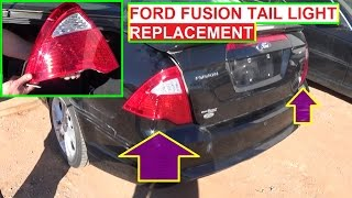 Tail Light Removal and Replacement Ford Fusion 2009 2010 2011 2012