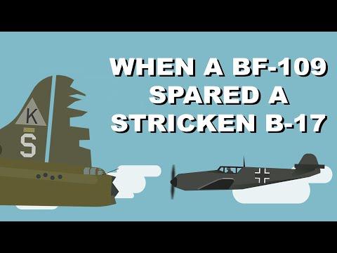 When A Bf109 Spared A Stricken B17