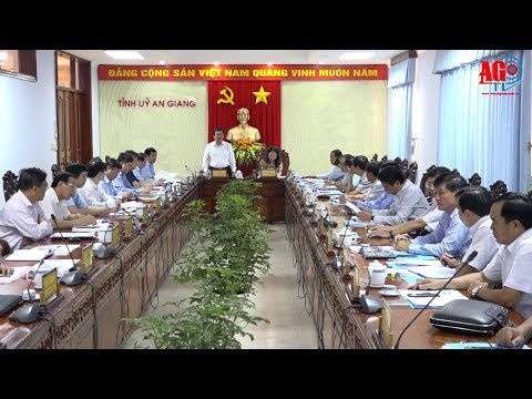 Đoàn công tác Hội đồng Lý luận Trung ương làm việc tại An Giang