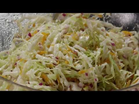 Video Salad Recipe - How to Make Cabbage Coleslaw